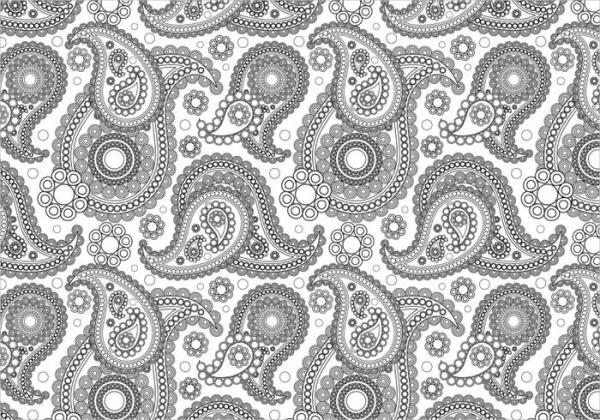 Free Black and White Paisley Pattern