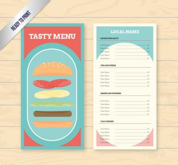 Free Burger Menu Design
