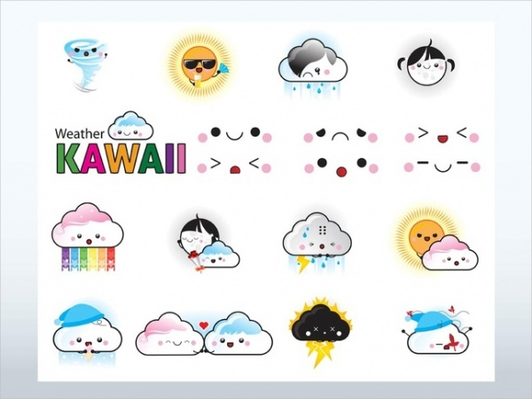 Free Cartoon Weather Icons