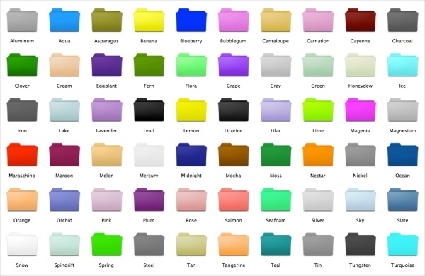 Free Color Folder Icons