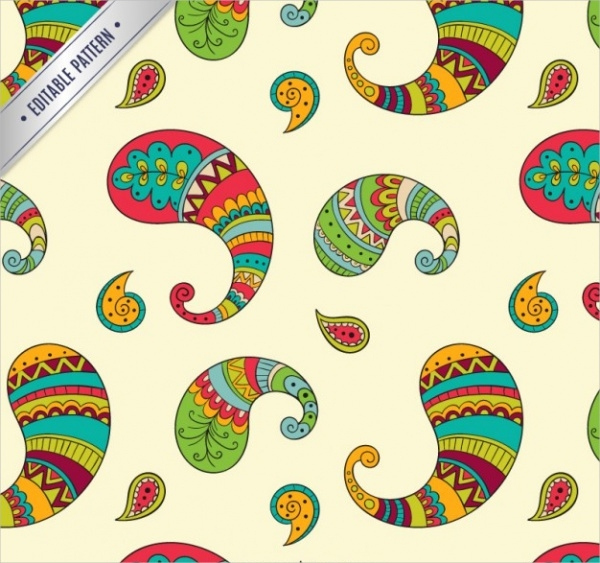Free Colorful Paisley Pattern