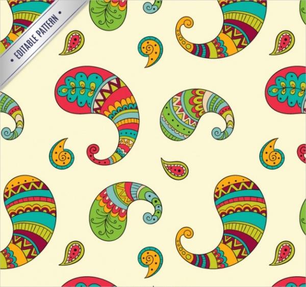 Free Colorful Paisley Pattern