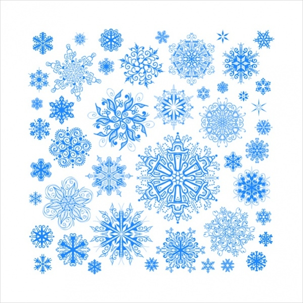 Free Colorful Snow flake Pattern