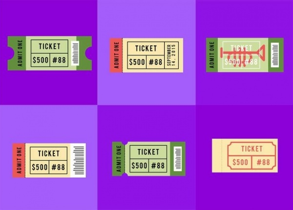 Free Colorful Ticket Design For Concert  Concert Ticket Layout