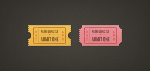 Free Colorful Ticket Design