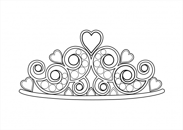 free crown coloring page1