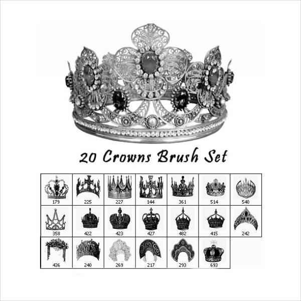 Free Crown Photoshop Brushes