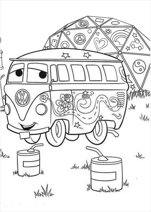 Free Disney Car Coloring Page for Kids