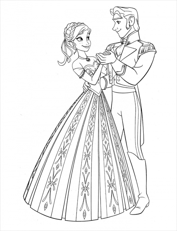 Free Disney Dancing Coloring Page