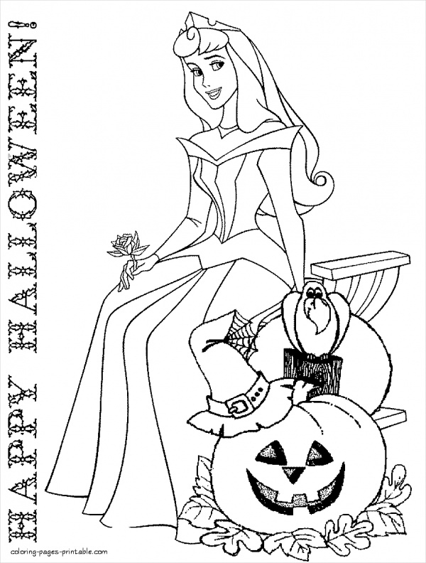 Free Disney Halloween Coloring Page