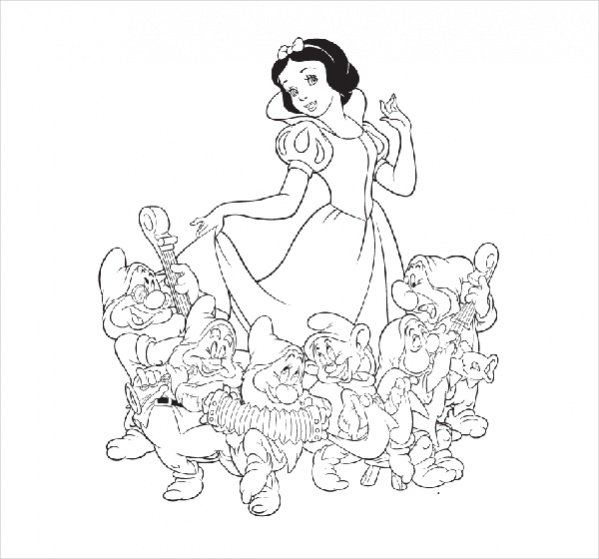 Free Disney Princess Snow White Coloring Page