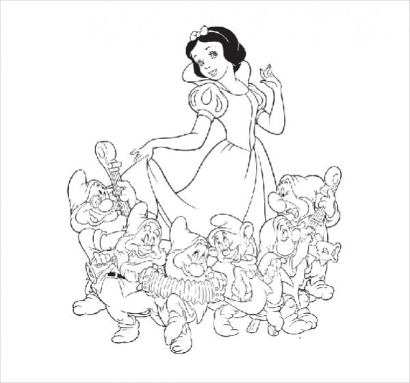 Free Disney Princess Snow White Coloring Page