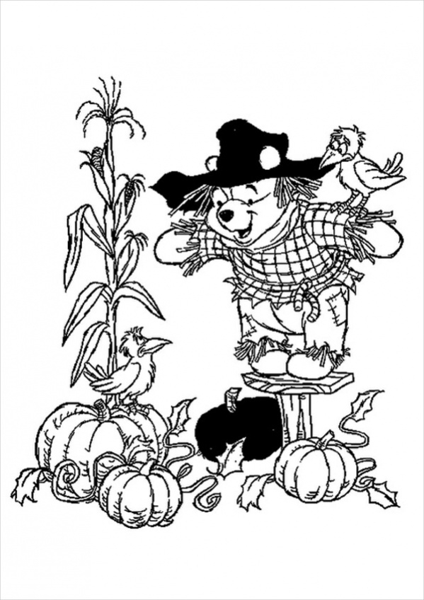 Free Disney Thanksgiving Coloring Page