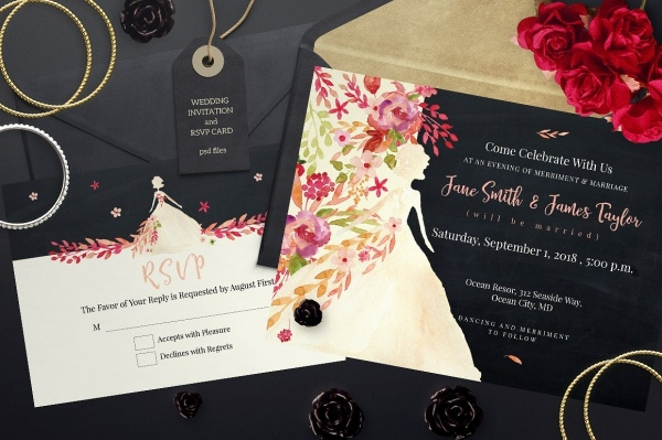 Free Diy Wedding Invitation
