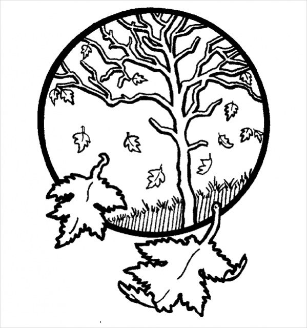 Holiday Fall Coloring Page