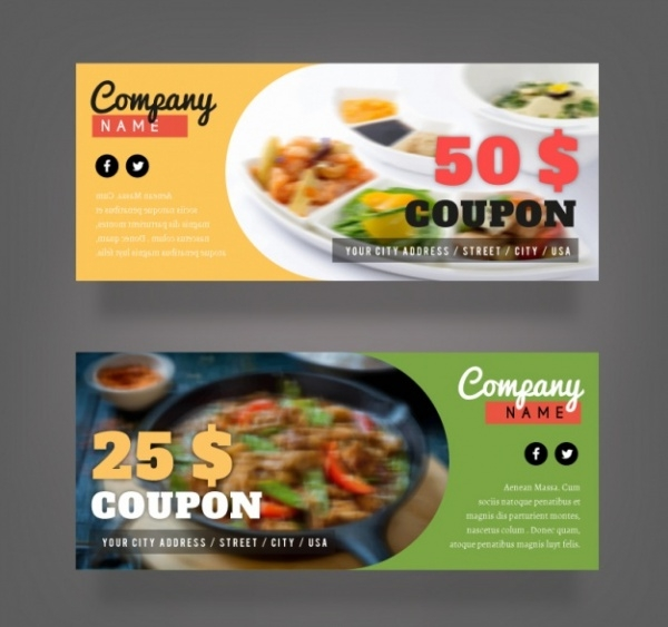 free food coupon design