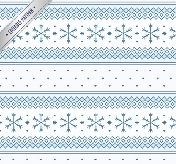 Free Geometric Snowflake Pattern