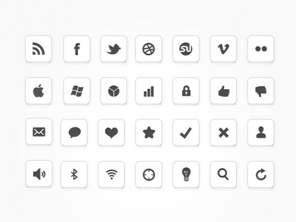 Free Isometric Social Media Icons