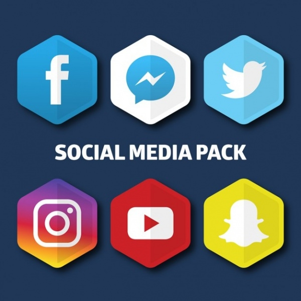 Free Long Shadow Social Media Icons