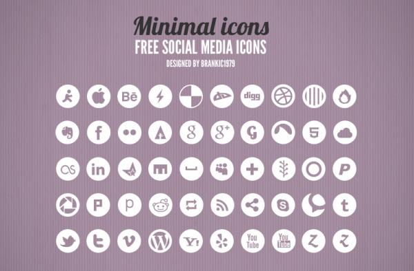 Free Minimal Social Media Icons