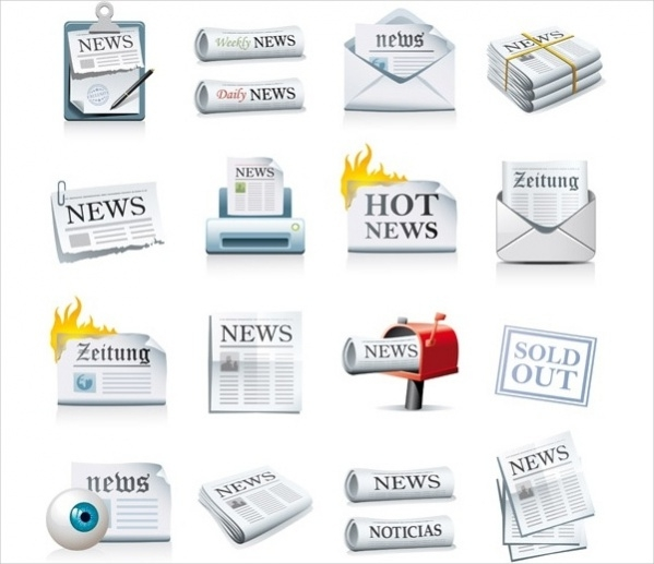 Free Newspaper Icon Vector