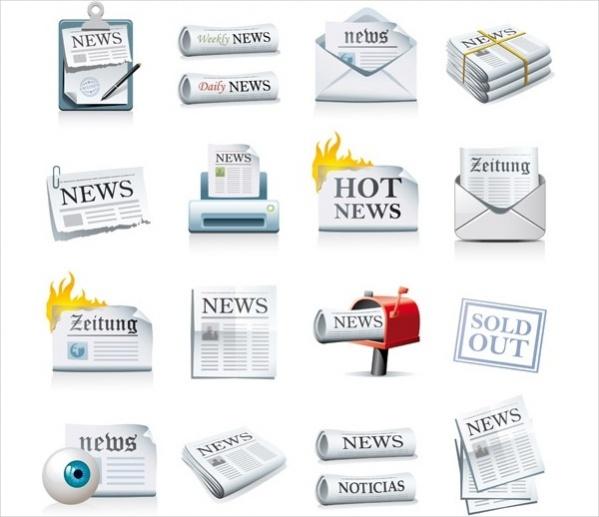 free newspaper icon vector