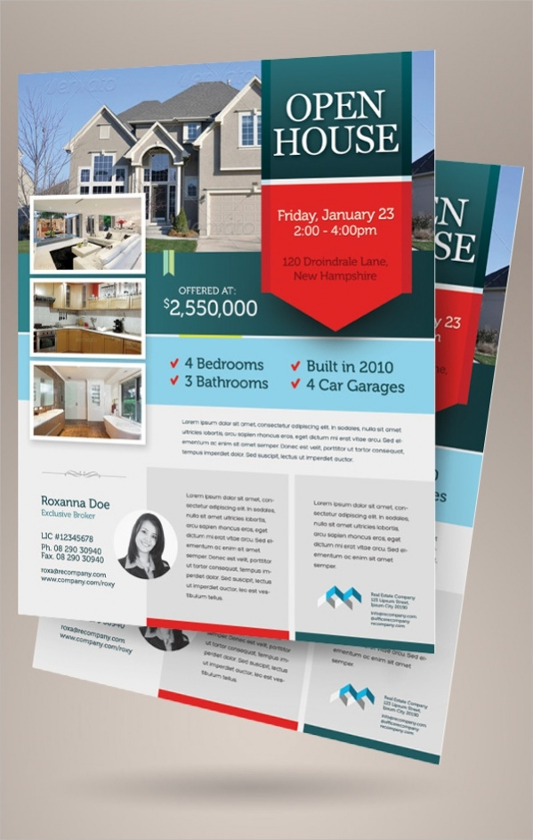 18 Open House Flyers PSD Vector EPS Download – Free Open House Flyers