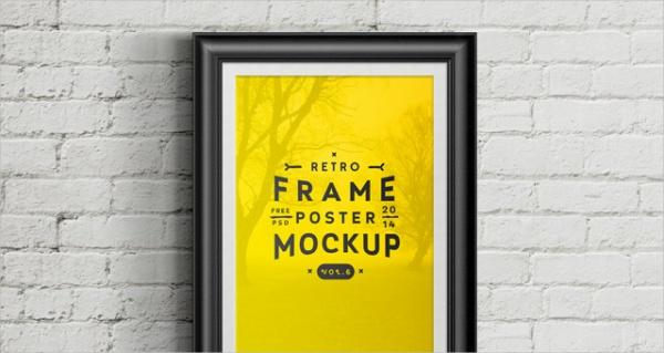 free poster frame mock up