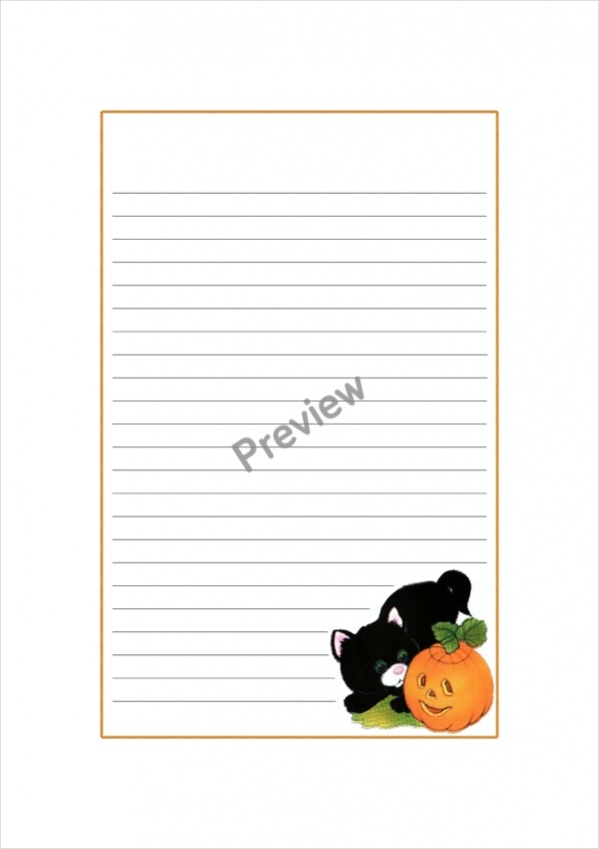 It is a graphic of Halloween Stationery Printable within writing