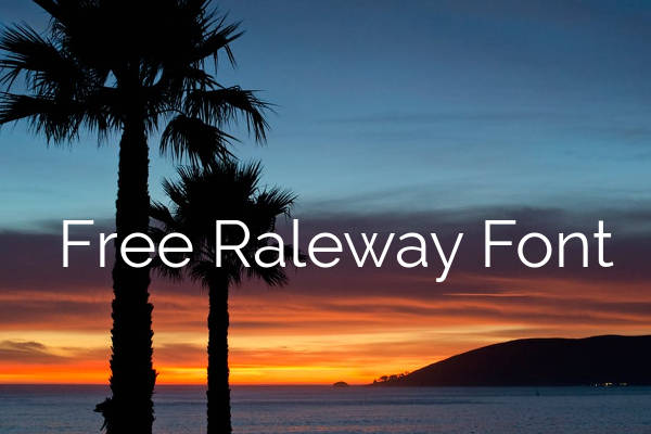 Free Raleway Font