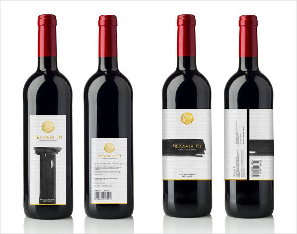 Free Red Wine bottle label