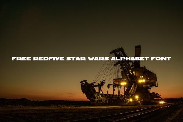 Free Redfive Star Wars Alphabet Font
