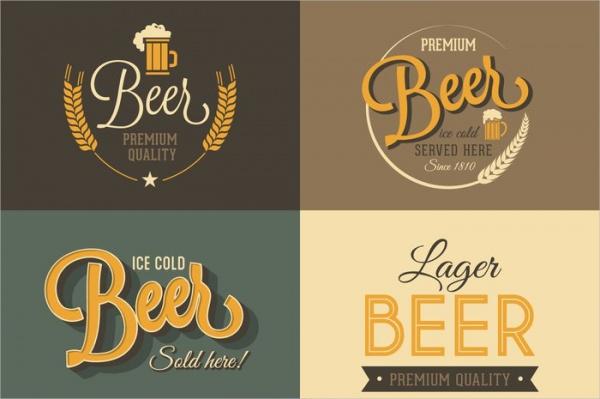 Free Retro Beer Labels