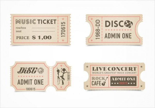 Free Retro Concert Ticket Design
