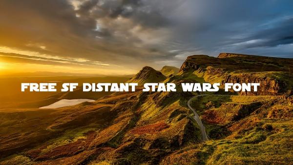 Free SF Distant Star Wars Font