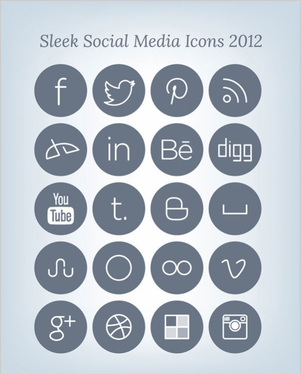 Free Social Media Outline Icon Pack