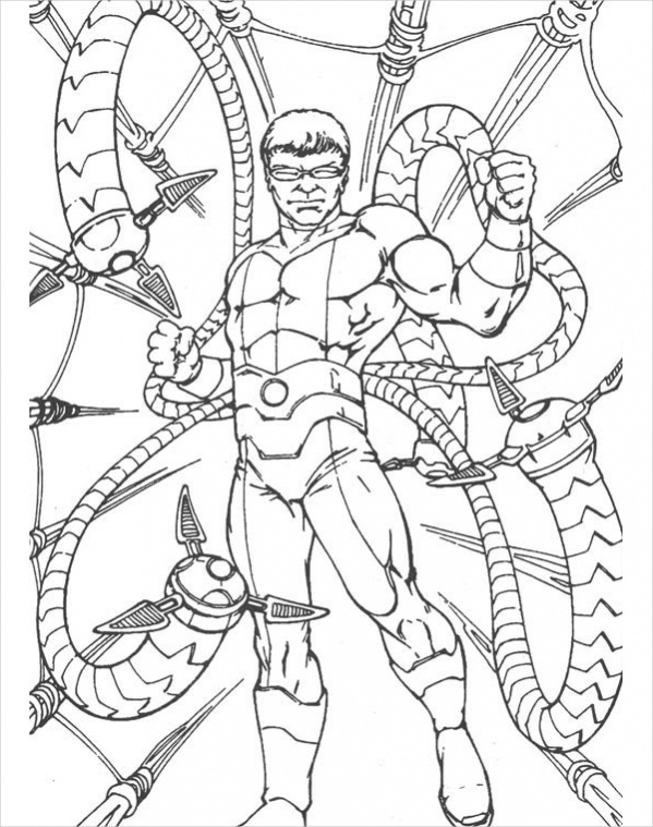 free spider man coloring page