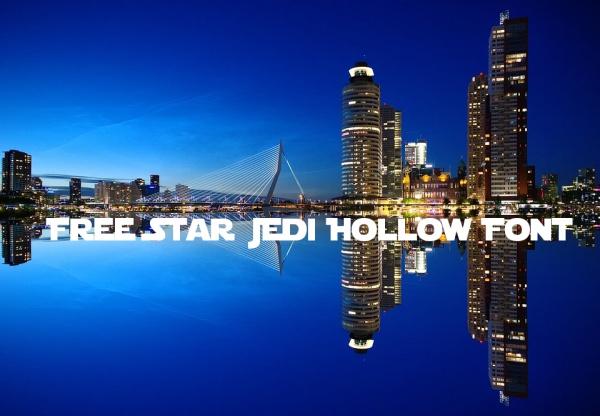 Free Star Jedi Hollow Font