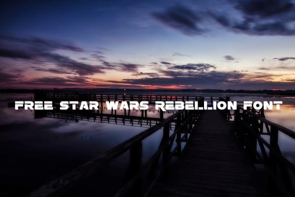 Free Star Wars Rebellion Font