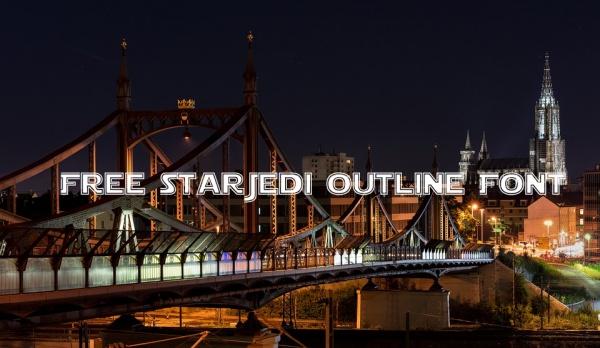Free StarJedi outline Font