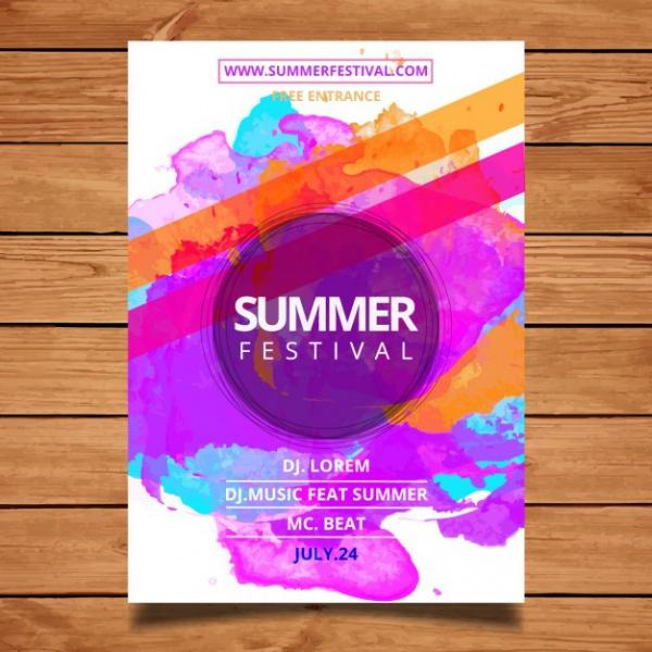 Free Summer festival poster