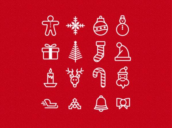free vector christmas icons