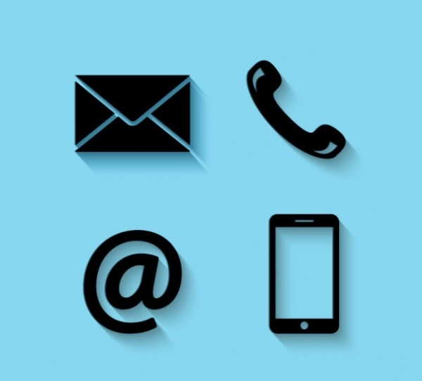 free vector contact icons