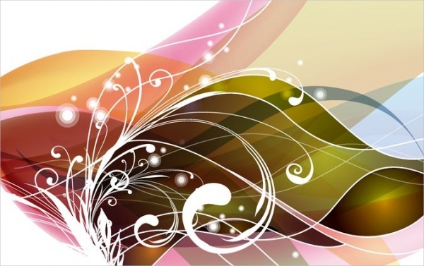 Free Vector Floral Swirl Graphics