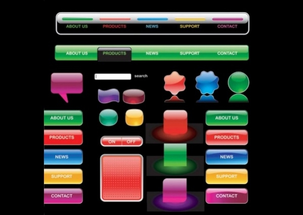 Free Vector Graphics Buttons