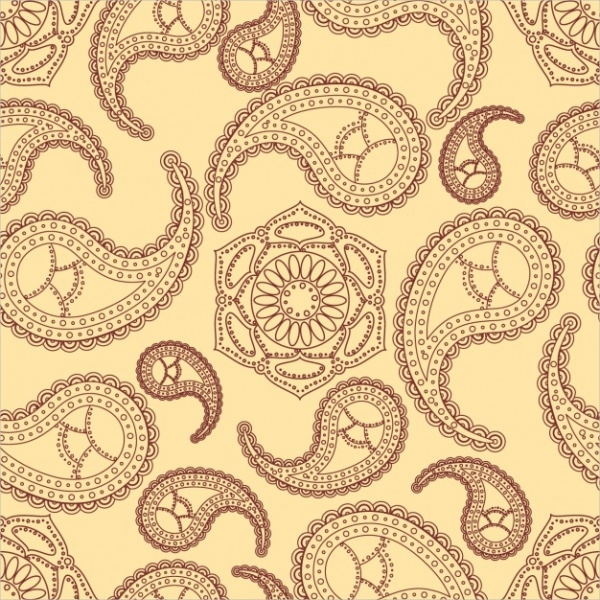 Free Vector Paisley Pattern Design