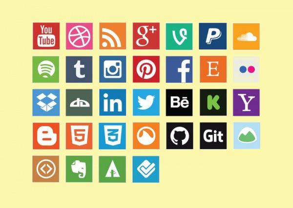 Free Vector Social Media Icon Set
