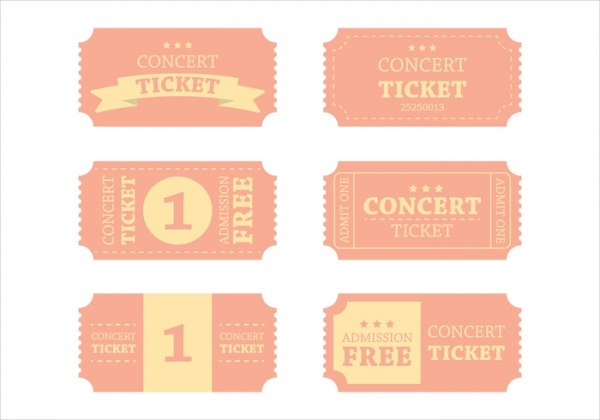 Free Vintage Concert Ticket Design