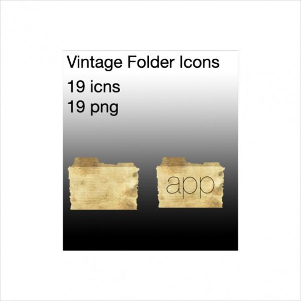 Free Vintage Folder Icons