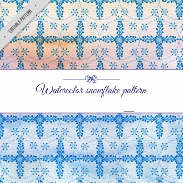 Free Watercolor Snowflake Pattern